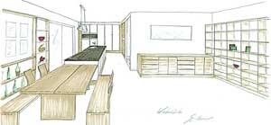 Küchenplan inkl. Essbereich