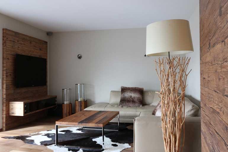 Altholz im Wohnzimmer