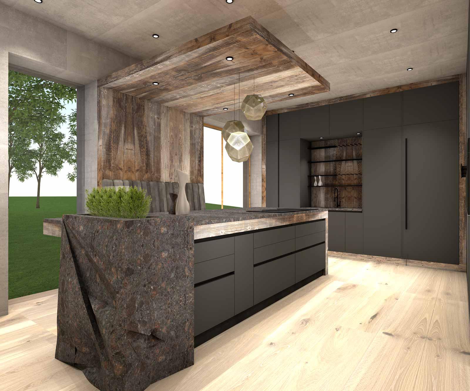 Entwurf moderne Küche