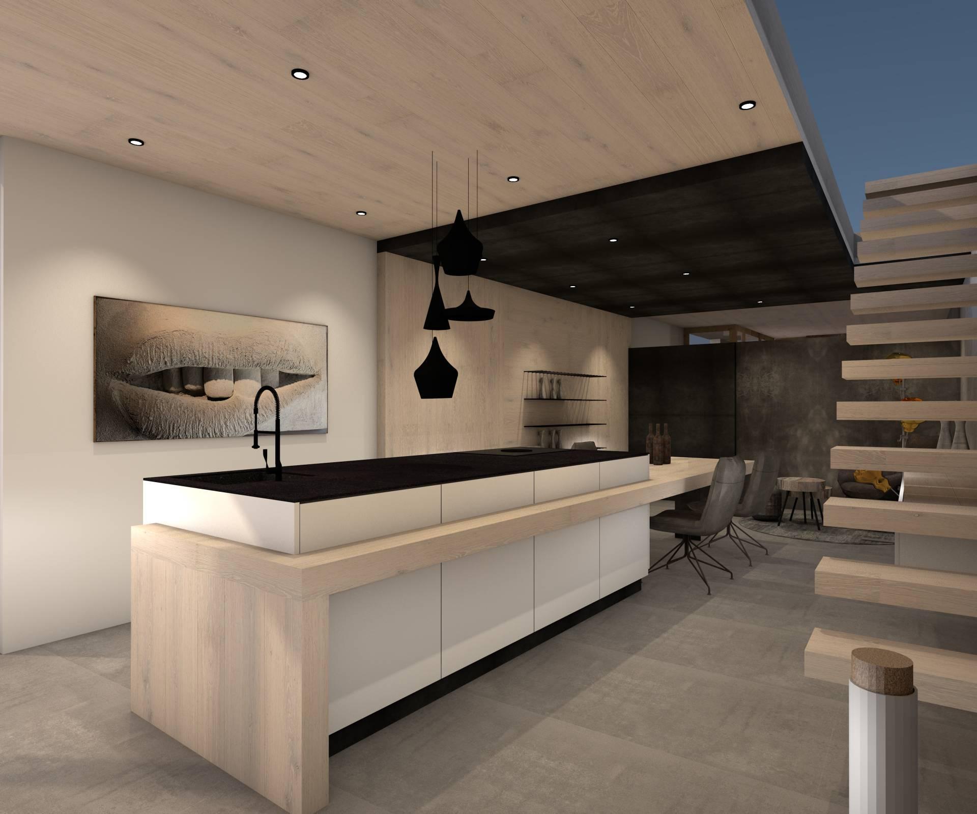Planung futuristische Küche