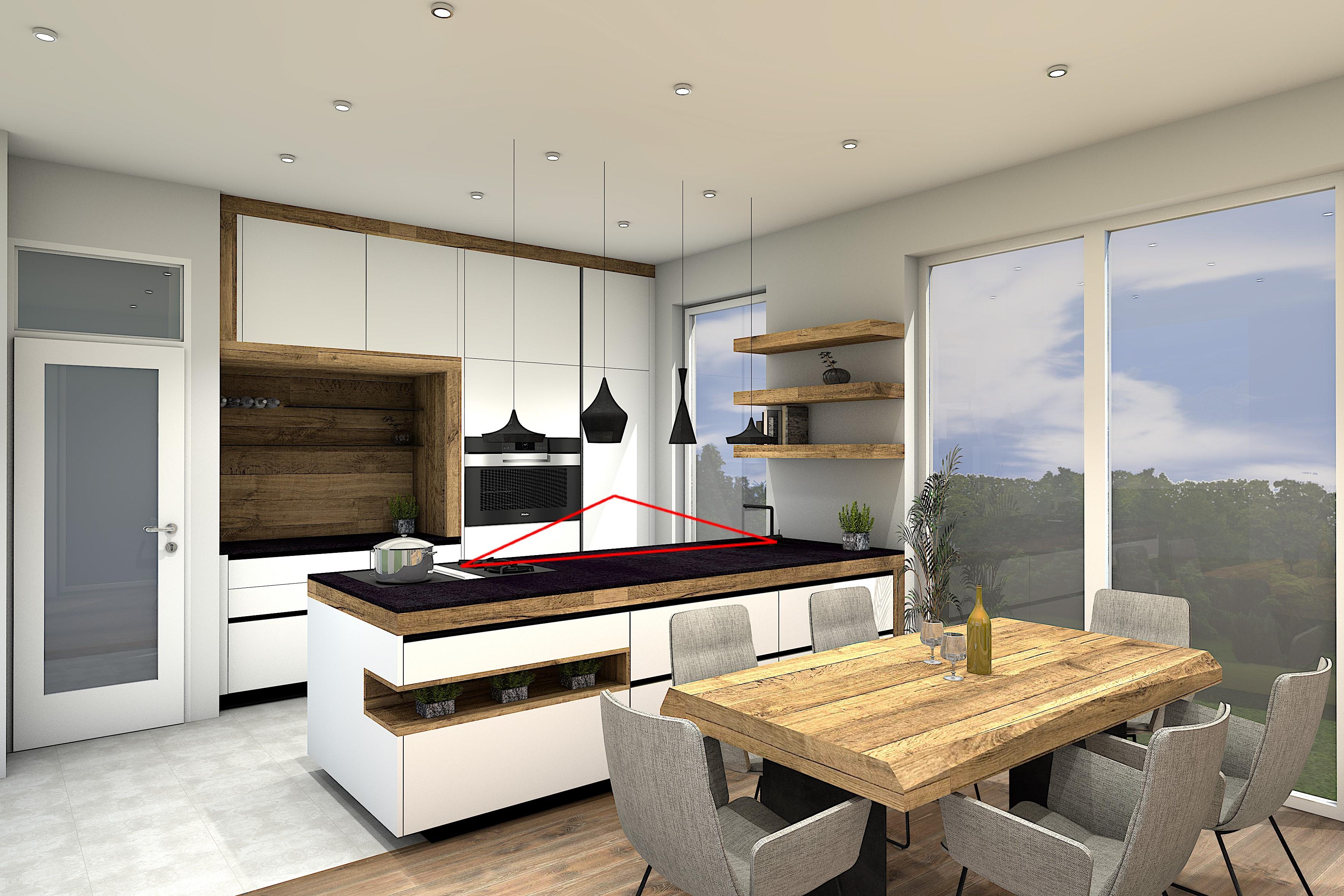 Sendlhofer Küchenstudio - Ergonomische Küche - Dreieck