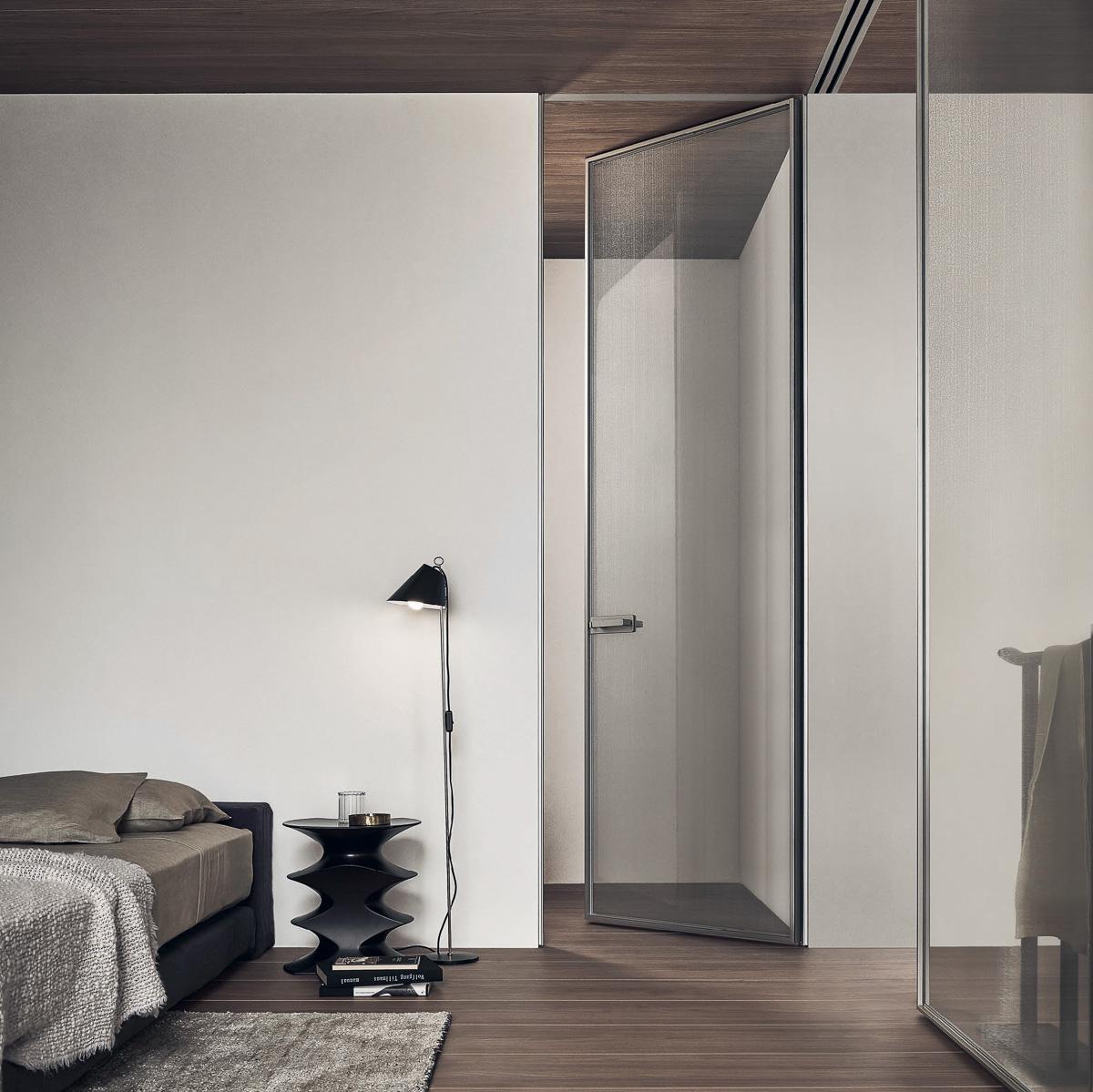 Schlafzimmer mit Glasfront - Wohnraumgestaltung